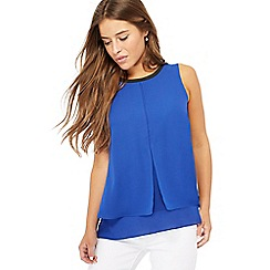 The Collection Petite - Blue check print petite shell top