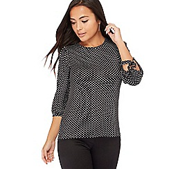 The Collection Petite - Black spotted petite top