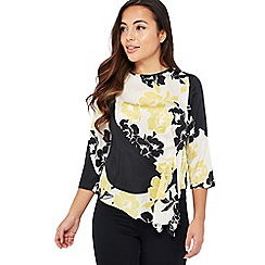 The Collection Petite - Narural Floral Print Tuck Side Petite Top