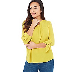 The Collection - Olive Textured Petite Shirt