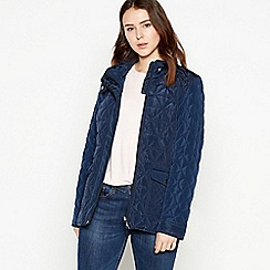 Principles Petite - Navy Quilted Padded Petite Jacket