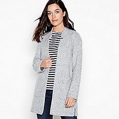 Principles Petite - Light Grey Boucle Knit 'Anna' Petite Coatigan
