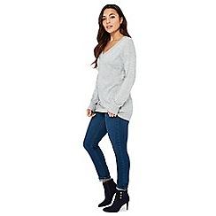 Principles Petite - Grey Longline Petite Sweater