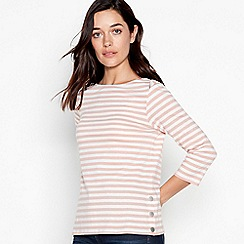 Principles Petite - Pale Pink Striped Cotton Petite Top