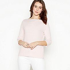 Principles Petite - Light Pink Ribbed Jersey Petite Top