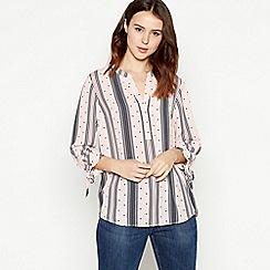 Principles Petite - Light Pink Spot Stripe Print Petite Shirt