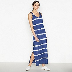 Principles Petite - Navy Petite Tie Dye Maxi Dress