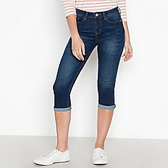 Principles Petite - Dark Blue Mid Wash Cropped Petite Jeggings