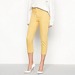 Principles Petite - Yellow Petite Mid Rise Cropped Skinny Denim Jeggings