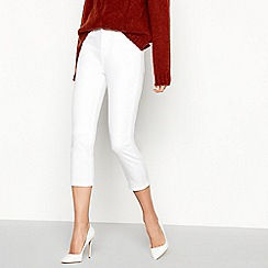 Principles - White Cropped Petite Jeggings