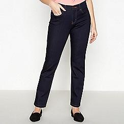 Principles Petite - Blue Dark Wash Straight Fit Petite Jeans