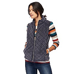 Maine New England - Navy quilted fleece gilet