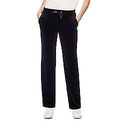 Maine New England - Black velour jogging bottoms