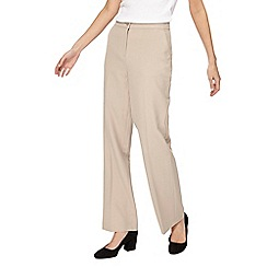 Maine New England - Beige 'Pablo' straight leg trousers