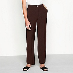 Maine New England - Chocolate brown 'Pablo' straight leg trousers