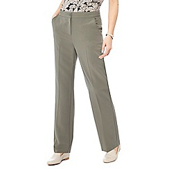 Maine New England - Khaki 'Pablo' straight leg trousers