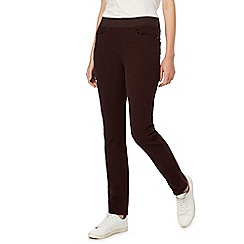 Maine New England - Brown straight leg jeggings