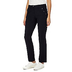 Maine New England - Black straight leg trousers