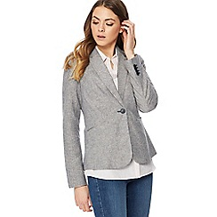 Maine New England - Grey striped linen blend blazer
