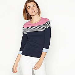 Maine New England - Multicoloured stripe jersey cotton top