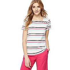 Maine New England - White striped square neck top