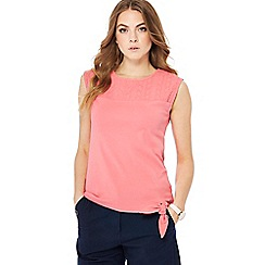 Maine New England - Mid rose pink jersey sleeveless top