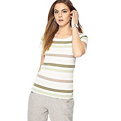 Maine New England - Multi-coloured striped jersey short sleeve top