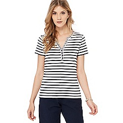 Maine New England - Navy striped jersey top