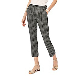 Maine New England - Black dotted print cropped trousers