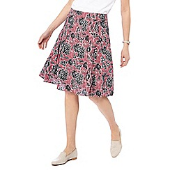 Maine New England - Rose flower print A-line skirt