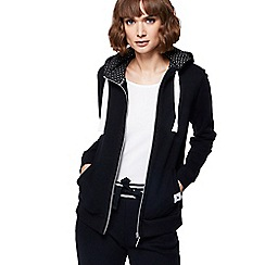 Maine New England - Black zip through hoodie