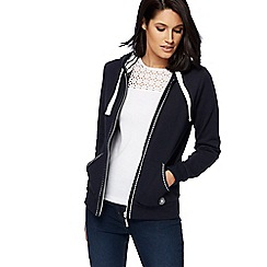Maine New England - Navy zip through hoodie