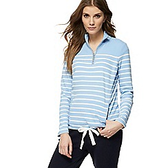 Maine New England - Light blue striped sweatshirt