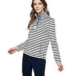 Maine New England - White and navy striped sweatshirt