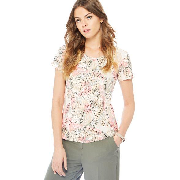 rose Mid palm t England print New leaf Maine shirt qxUtRSaAn