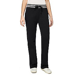 Maine New England - Black striped waist jogging bottoms