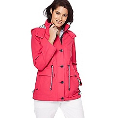 Maine New England - Pink hooded shower resistant jacket