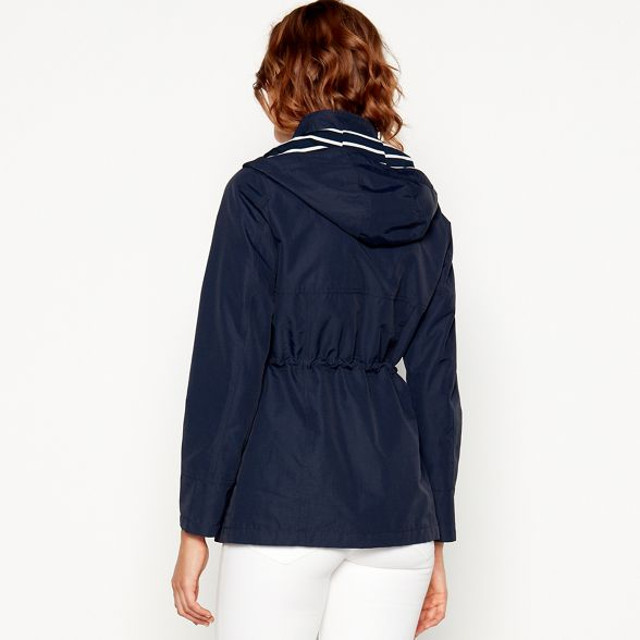 New Maine jacket hooded England Navy shower resistant Pwq00d6ax