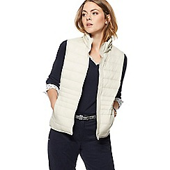 Maine New England - Dark cream packaway padded gilet