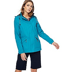 Maine New England - Turquoise striped shower resistant jacket