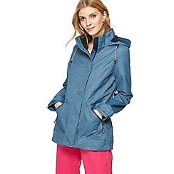 Maine New England - Blue striped shower resistant jacket