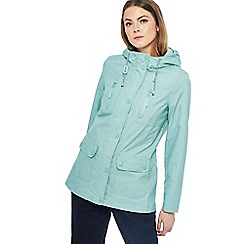 Maine New England - Pale green hooded shower resistant yachting jacket