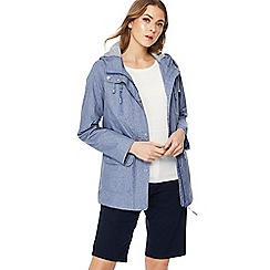 Maine New England - Blue hooded shower resistant yachting jacket