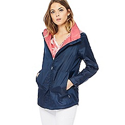Maine New England - Navy shower resistant hooded jacket