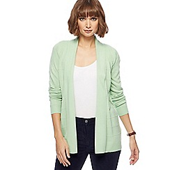 Maine New England - Pale green textured striped cardigan