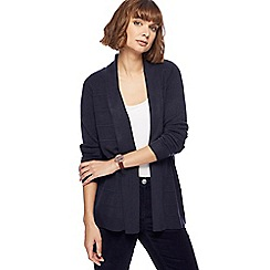 Maine New England - Navy textured striped cardigan