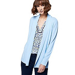 Maine New England - Light blue textured striped cardigan