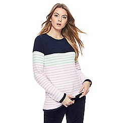 Maine New England - Multi-coloured chenille fleece stripe jumper