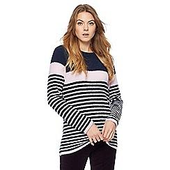 Maine New England - Multi-coloured chenille fleece stripe jumper
