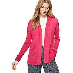 Maine New England - Pink longline linen blend cardigan